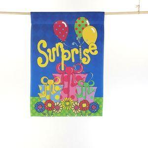 Surprise Party Balloons Presents Garden Flag
